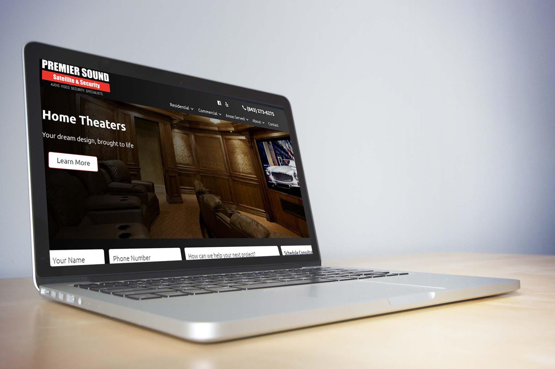 Premier Sound laptop